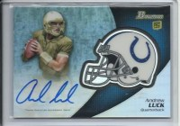2012 Bowman Signature Andrew Luck Autograph Refractor Card