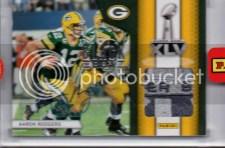 2012 Panini Black Box Aaron Rodgers Super Bowl Pylon