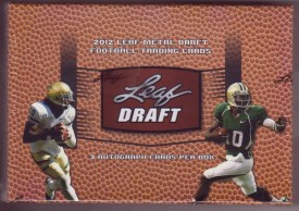 2012 Leaf Metal Draft Football Box