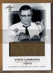 2012 Leaf Vince Lombardi Jacket Card