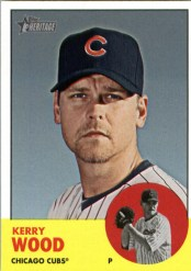 2012 Topps Heritage Kerry Wood Base Card
