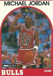 1989-90 Hoops Michael Jordan Card