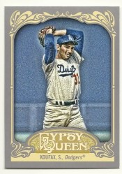 2012 Topps Gypsy Queen Sandy Koufax Base Card