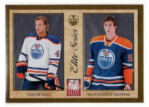 2011-12 Donruss Elite Taylor Hall - Ryan Nugent-Hopkins Insert Card