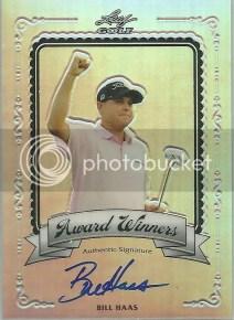 2012 Leaf Metal Golf Bill Haas Award Winners Autograph Card