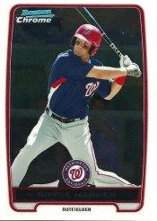 2012 Bowman Chrome Bryce Harper BCP10 Card