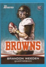 2012 Bowman Brandon Weeden RC Variation