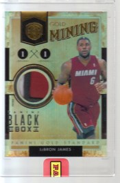2012 Panini Black Box LeBron James Gold Standard 1/1