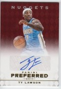 2011-12 Panini Preferred Red Autograph Ty Lawson #/49