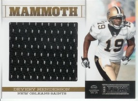 2011 Panini Playbook Devery Henderson Mammoth Jersey Card