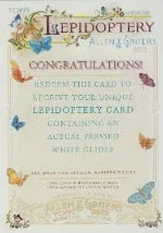 2012 Topps Lepidoptery Redemption Card