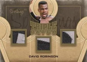 2012 Sportkings Series E Triple Patch Card #TP-11 David Robinson