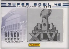 2012 Panini Black Box - Super Bowl 46 Card