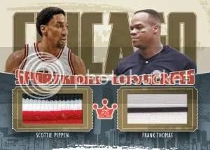 2012 Sportkings Series E Cityscapes Dual Jersey Card #CS-10 Scottie Pippen - Frank Thomas