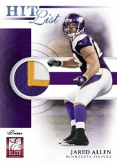 2012 Panini Elite Jared Allen Jersey Card Hot List