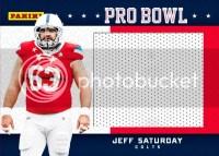 2012 Panini Fathers Day Jeff Saturday Pro Bowl
