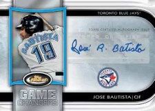 2012 Topps Finest Jose Bautista Game Changer Autographs
