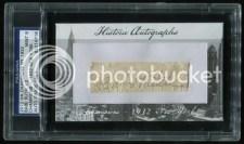 2012 Historic Autographs Babe Ruth Cut Signature