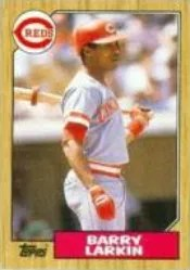 1987 Topps Barry Larkin Rookie RC