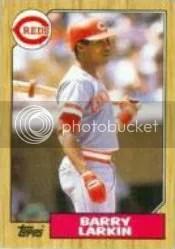1987 Topps Barry Larkin Rookie RC