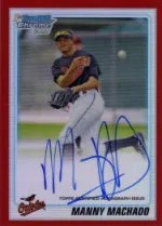 2010 Bowman Chrome Manny Machado Red