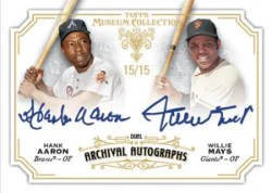 2012 Topps Museum Collection Willie Mays Hank Aaron Auto