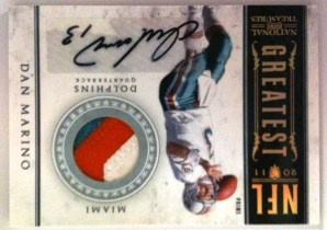 2011 Panini National Treasures NFL Greatest Dan Marino Prime Jersey Autograph Card