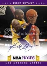 2012-13 Panini NBA Hoops Kobe Bryant Autograph Card