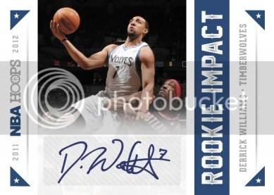 2012-13 NBA Hoops Rookie Impact Autograph Derrick Williams Card