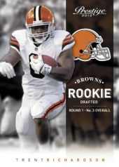 2012 Panini Prestige Trent Richardson Browns Rookie Card