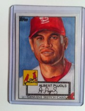 2011 Topps Diamond Anniversary Albert Pujols Sketch Card