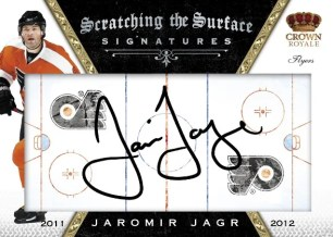 2011-12 Panini Crown Royale Scratching The Surface Jaromir Jagr Autograph Card