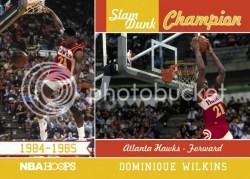 2011-12 Panini Hoops Dominique Wilkins Slam Dunk Champions