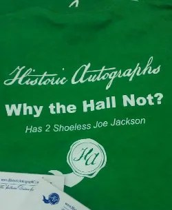 Historic Autographs Why The Hall Not Shirt