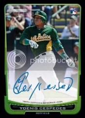 2012 Bowman Baseball Yoenis Cespedes Autograph RC Rookie