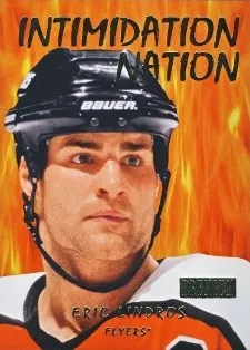 12/13 Fleer Retro Intimidation nation #9 of 20IN Eric Lindros