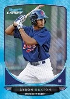 2013 Bowman Byron Buxton Blue Wave