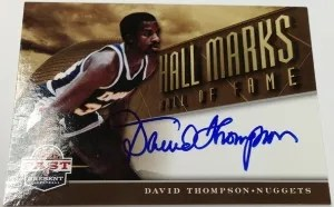 12/13 Panini Past & Present David Thompson HOF Auto