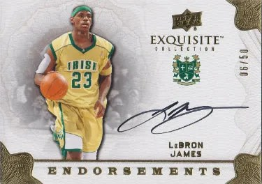 11-12 Upper Deck Exquisite Endorsements LeBron James Autograph
