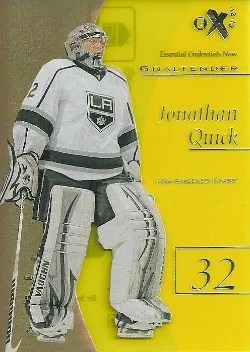 12/13 Fleer Retro Hockey Essential Credentials Now #20 Jonathan Quick #/20