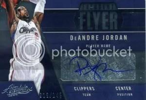 12/13 Panini Absolute Memorabilia DeAndre Jordan Frequent Flyer Autograph Card