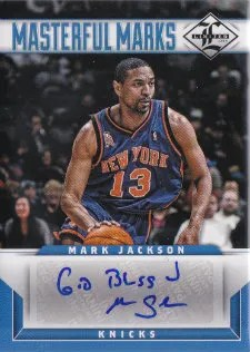 12/13 Panini Limited Materful Marks Mark Jackson Autograph God Bless