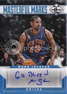 12/13 Panini Limited Materful Marks Mark Jackson Autograph God Bless
