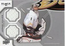 12/13 Upper Deck Black Diamond Jonas Hiller Jersey Card