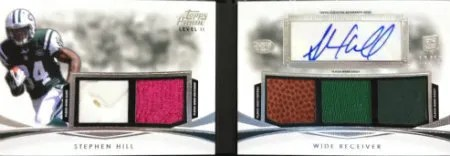 2012 Topps Prime Stephen Hill Level II Material Autograph Book Card #/15