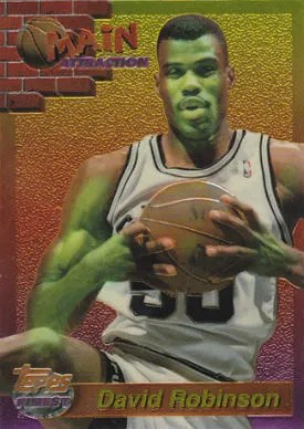 1993-94 Topps Finest David Robinson Main Attraction #24 David Robinson