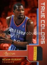 2012-13 Panini Prestige True Colors Kevin Durant Prime Jersey Card