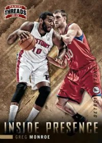 2012-13 Panini Threads Basketball Greg Monore Inside Presence Insert Card