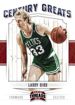 2012-13 Panini Threads Century Legends Larry Bird Insert Card