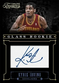 2012-13 Panini Timeless Treasures Kyrie Irving Autograph RC Card